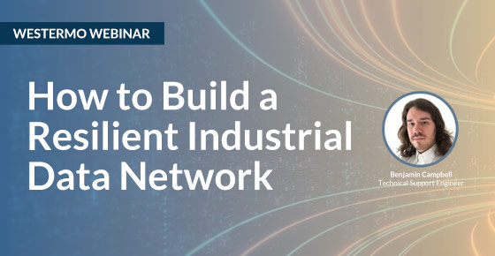 Webinar on how to build a resilient data network.