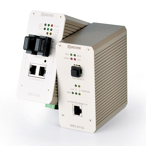 Industrial Ethernet to Fiber Media Converters by Westermo.