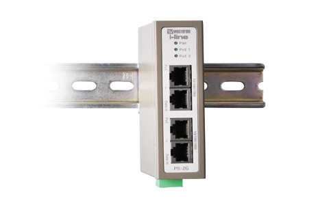 Industrial 2-port PoE Injector PII-2G by Westermo.